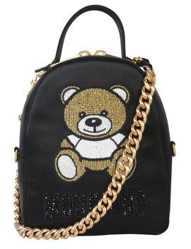 Moschino Zaino Teddy Chain Strap Backpack by Moschino Moschino