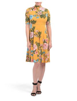 petite-floral-midi-dress by donna-morgan