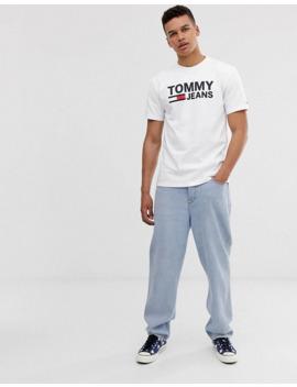 camiseta-clásica-con-logo-en-el-pecho-en-blanco-de-tommy-jeans by tommy-jeans