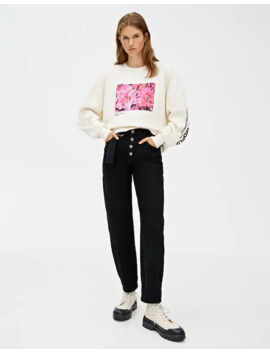 sweatshirt-with-floral-illustration by pull-&-bear