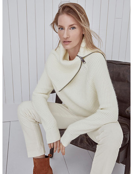 oversized-zip-collar-ribbed-sweater by contemporaine