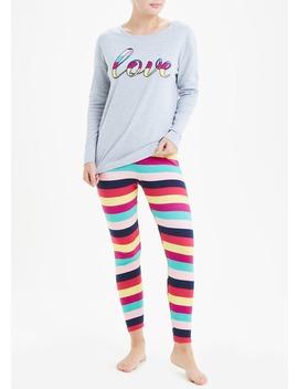 love-stripe-pyjama-set by matalan