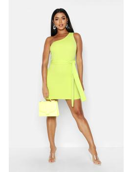 one-shoulder-belted-bodycon-dress by boohoo