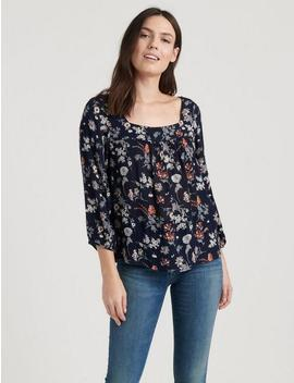 Square Neck Blouse by Lucky Brand
