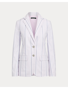 Striped Canvas Blazer by Ralph Lauren