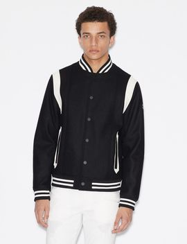 Bomber With Contrasting Inserts by Armani Exchange