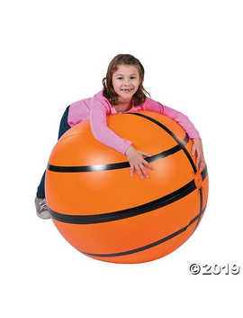 """Inflatable 30"""" Sports Vbs Extra Large Basketball by Oriental Trading"""