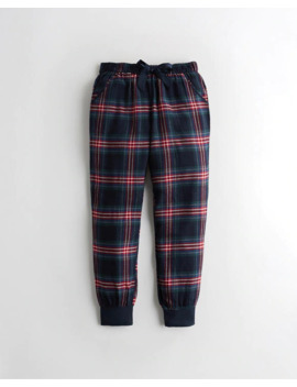 Flannel Sleep Joggers by Hollister