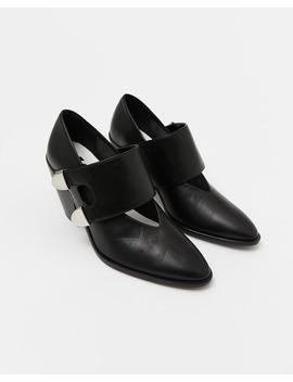 Zapato Cowboy Piel Negro by Bimba Y Lola