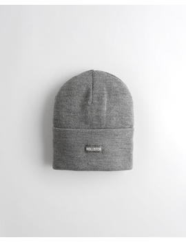 Logo Knit Beanie by Hollister