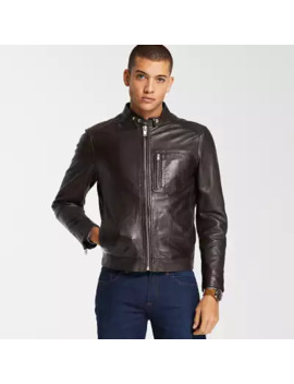 Men's Kinsman Mountain Leather Bomber Jacket by Timberland