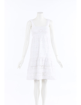 Embroidered Lace Dress by Oscar De La Renta