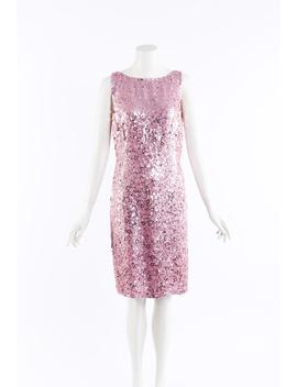 Sequin Silk Knee Length Dress by Naeem Khan