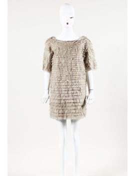 "Silk ""Clipped Feather Sweatshirt"" Mini Dress by 3.1 Phillip Lim"
