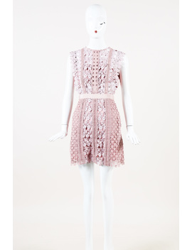 """Lace """"Daisy Vine"""" Short Dress by Self Portrait"""