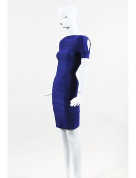 """Ultramarine"" Blue Bandage Knit Bodycon Dress by Herve Leger"