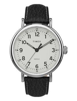 Timex® Standard Xl 43mm Leather Strap Watch by Timex
