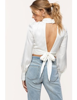 Satin On Me   Off White by Loavies Off White Satin Top