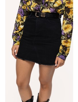 dont-stop---black by loavies-black-denim-skirt