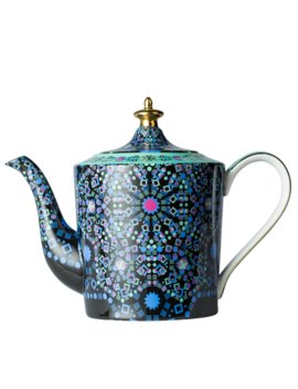 Moroccan Tealeidoscope Aqua Teapot Large by T2 Tea