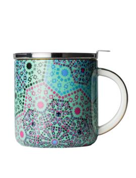 Moroccan Tealeidoscope Aqua Mug With Infuser by T2 Tea