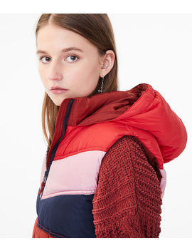 Colorblock Puffer Vest by Aeropostale