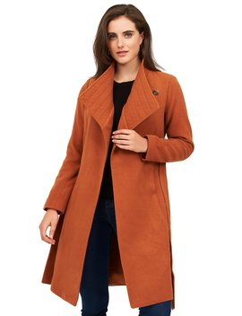 Melton Duchess Wrap Coat With Belt Tie by Suzy Shier
