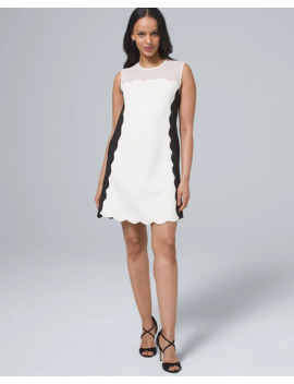 Scalloped Colorblock Shift Dress by Whbm