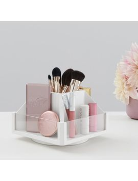 Wood & Acrylic Rotating Beauty Organizer by P Bteen