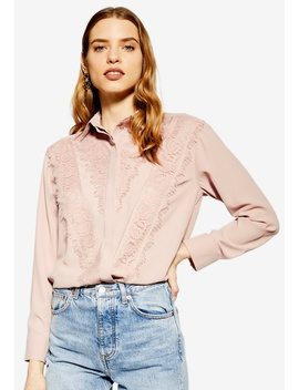 Lace Shirt by Topshop