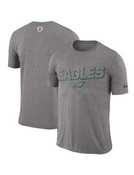 Philadelphia Eagles Nike Sideline Legend Sweat Reveal Lift Performance T Shirt   Heathered Gray by Nfl