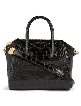 Small Antigona Croc Embossed Leather Bag by Holt Renfrew