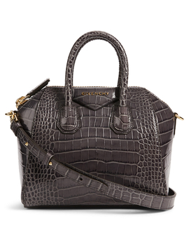 Mini Antigona Croc Embossed Leather Bag by Holt Renfrew