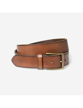 Khaki Leather Belt by Eddie Bauer