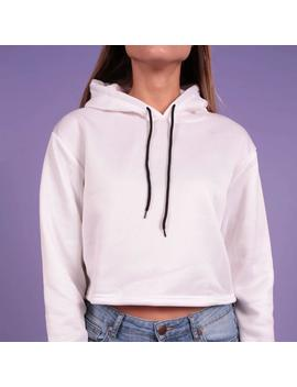 """Kitty Girl"" Cropped Hoodie by Aesthentials"