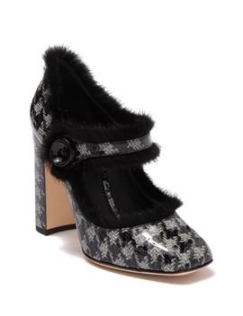 Genuine Fur Trim Pump by Dolce & Gabbana
