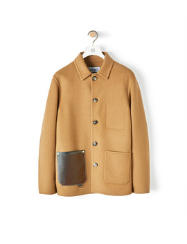 Button Jacket Patch Pockets 				 				 				 				 				 				 				Camel by Loewe