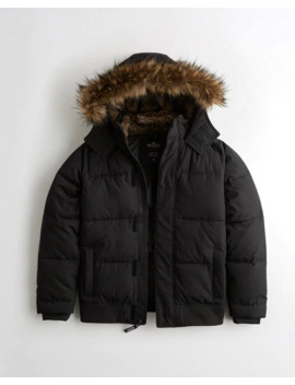 Puffer Bomber Jacket by Hollister