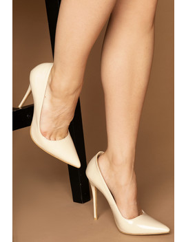 #Luxeforall Cassie Court Heels In Beige Vegan Leather by Luxe To Kill