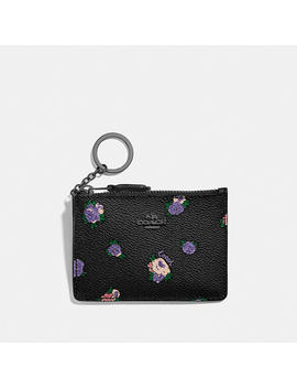 Mini Skinny Id Case With Vintage Rosebud Print by Coach