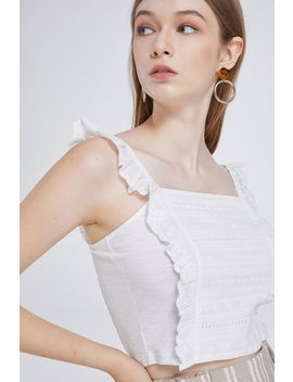Lucca Frill Crop Singlet by Valleygirl