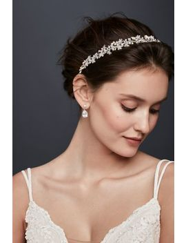 Pearl And Crystal Floral Ribbon Headband by David's Bridal
