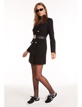 The Oxford Blazer Dress – Black by Lioness Fashion