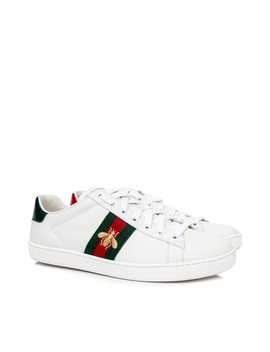 Pre Owned Gucci Ace Embroidered Low Top Sneakers by Gucci