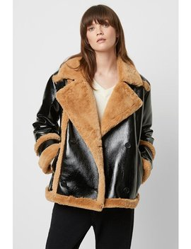 Filpa Faux Shearling Double Breasted Jacket by French Connection