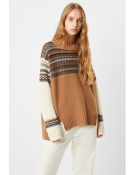 Patchwork Fairisle Knits High Neck Jumper by French Connection