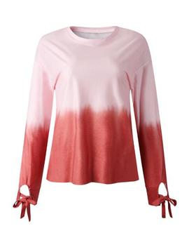 'fish' Dye Tonal Color Tied Sleeve Top (2 Colors) by Goodnight Macaroon