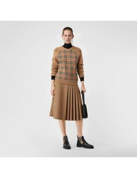Vintage Check Wool Jacquard Sweater by Burberry