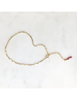 Anklet Red Coral by By Nouck