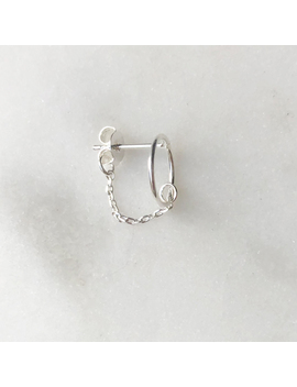 Earpin Circle Chain Silver by By Nouck